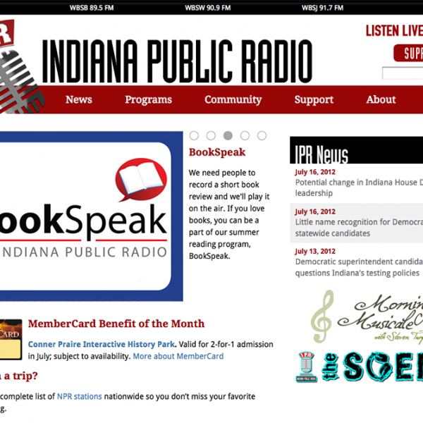 Indiana Public Radio website redesign