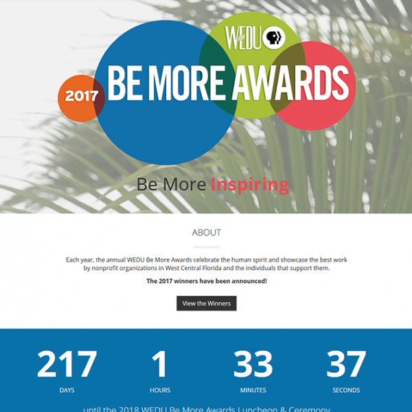 Be More Awards website